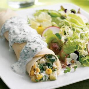 Summer vegetable crepes filled with zucchini, corn, green beans, ricotta cheese and chive cream sauce.jpg