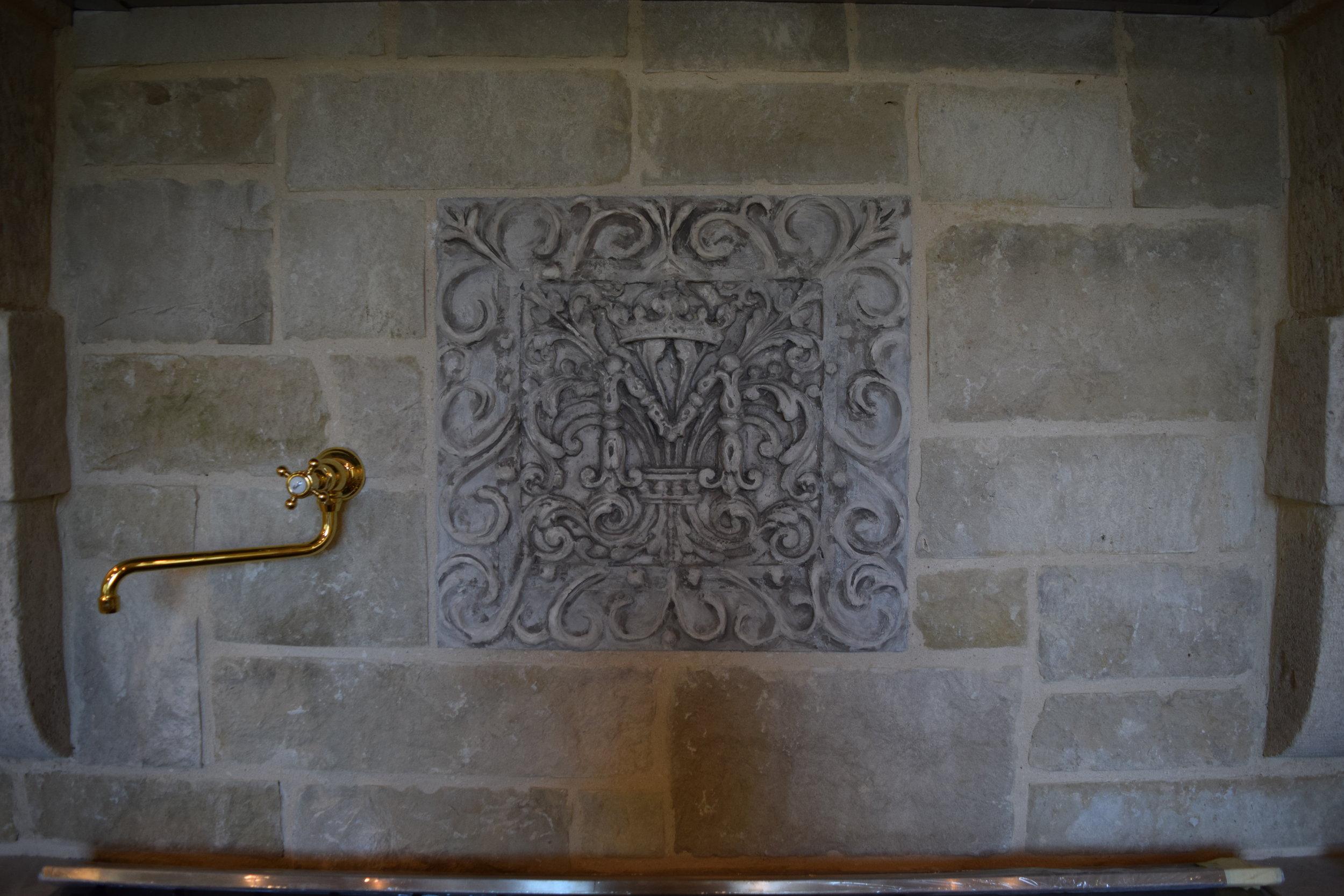 Kitchen Range Wall backsplash detail