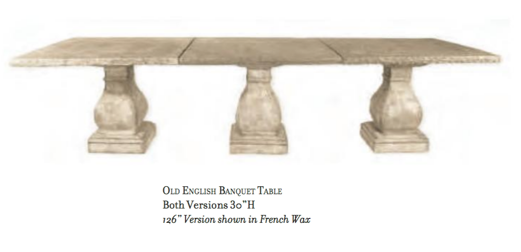 Concrete Formal Dining table in French Wax