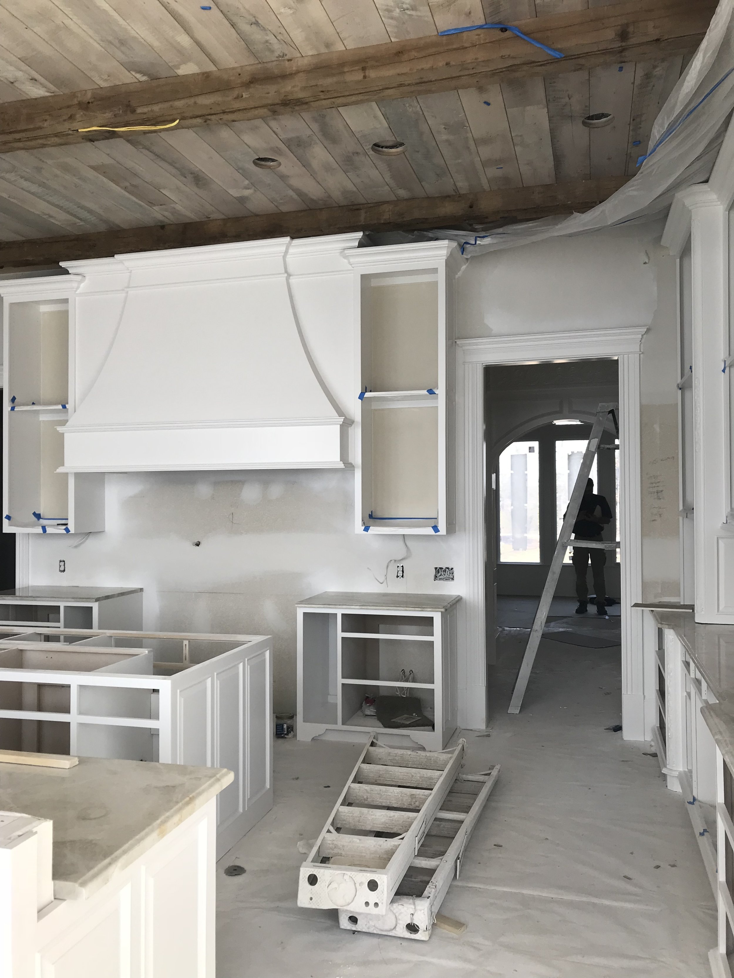 Kitchen - during construction