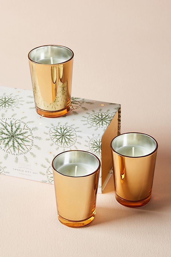 Good Natured Soy Candle Gift Set via  Anthropologie