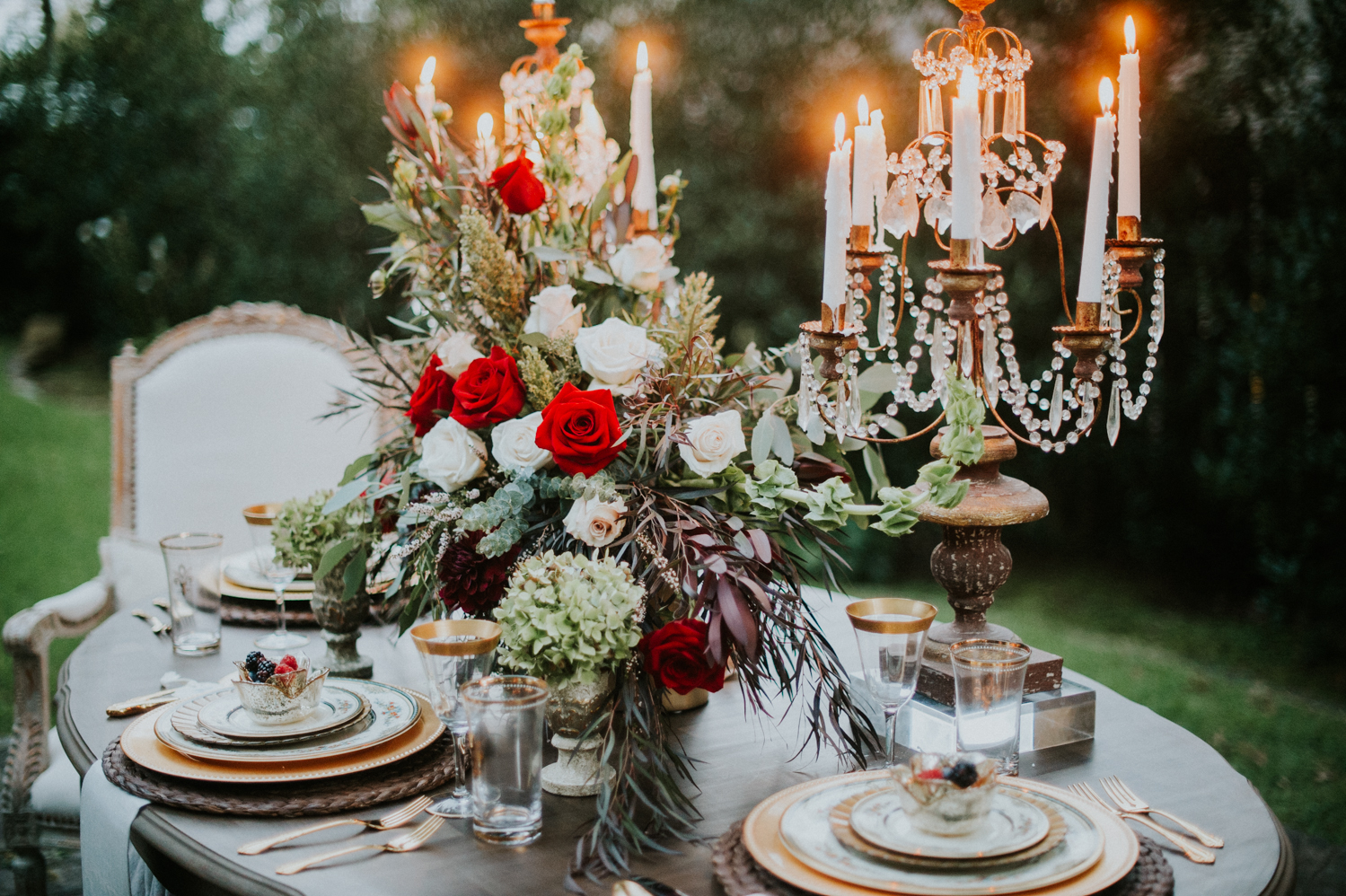 Tablescape For Winter / New Years Eve