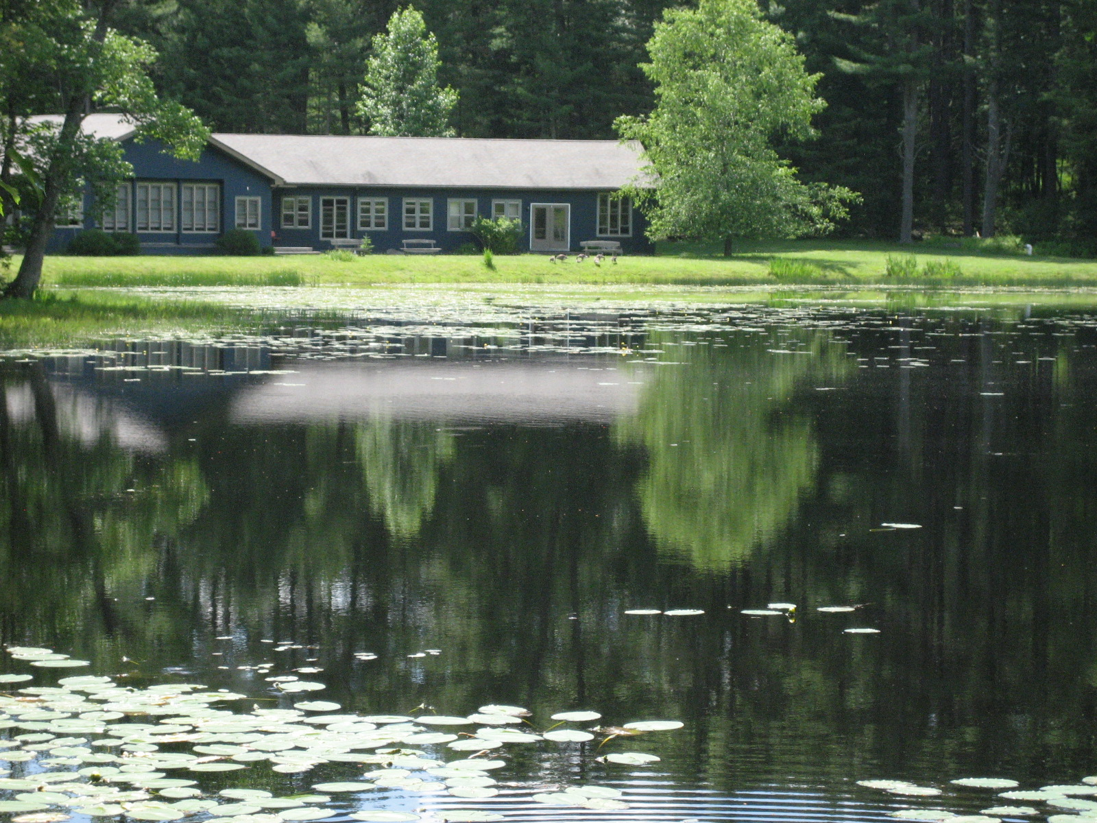 Serene setting of the Lake Conference Center