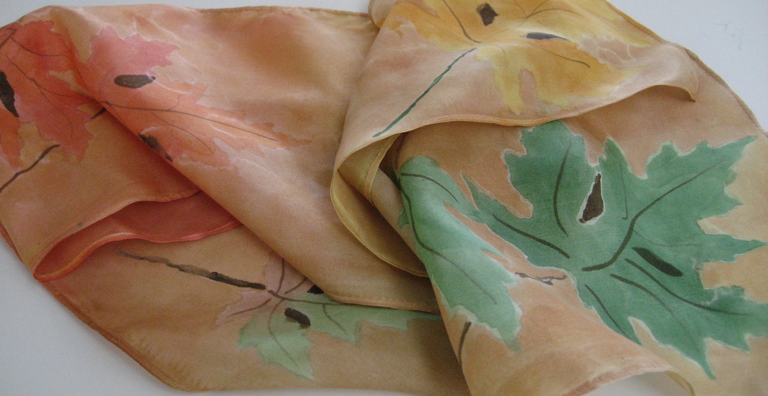 Botanicals Painted on Silk