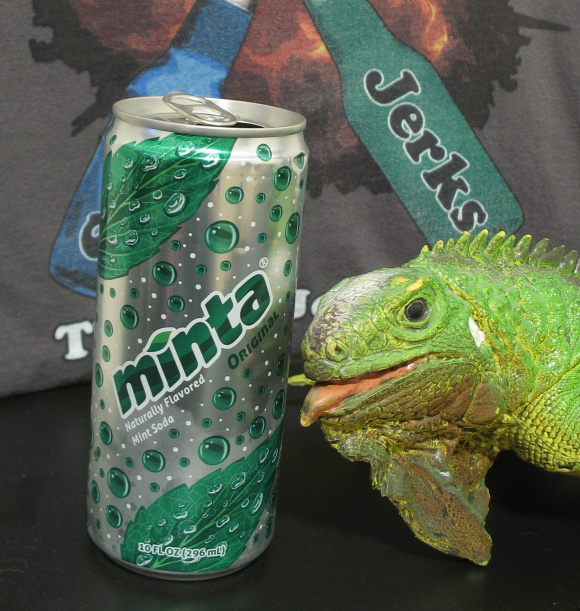 It's not easy being green...and being next to a can of Minta.