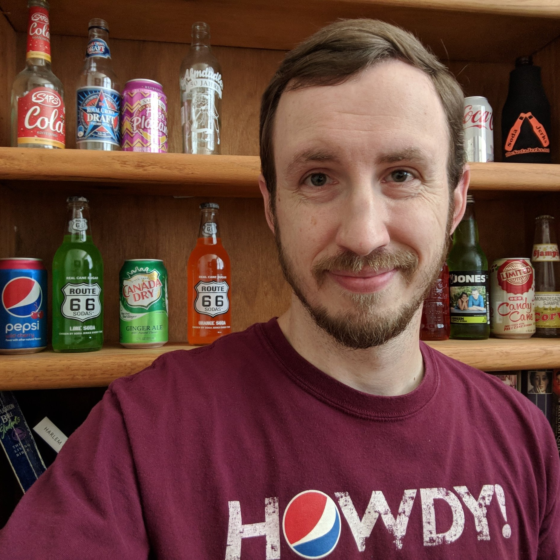 Aaron - Co-Creator and currently sole operator of The Soda Jerks. He's personally had over 600 different sodas, been featured in a Swedish documentary on soda, been interviewed by the CBC about legal soda issues, and typed this description.