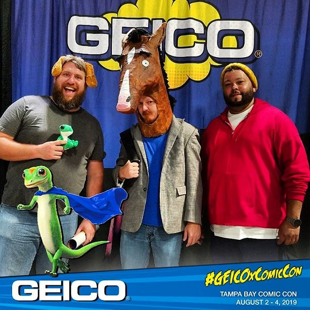 "Just inked an endorsement deal with an old friend. Unfortunately they asked for some ""safer"" drivers to be in the ads.  #geicoxcomiccon #everydaybojack #bojackhorseman #netflix#cosplay #toddchavez #mrpeanutbutter #tampabaycomiccon"