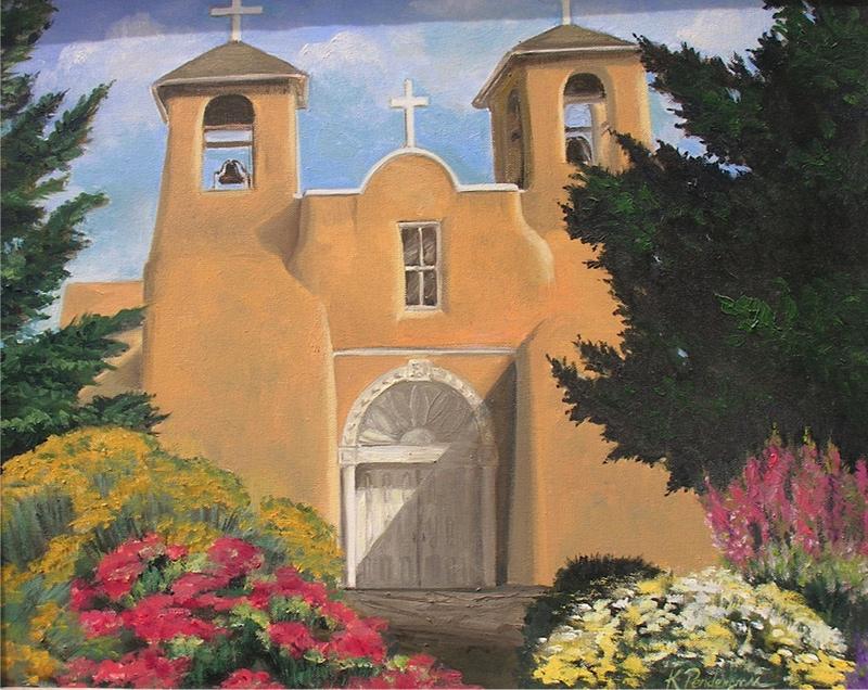 """""""Ranchos de Taos Church""""  Oil    16"""" x 20"""""""