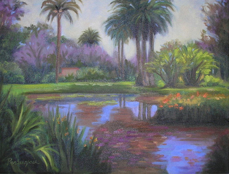 """""""Pond Reflections""""  Oil    12"""" x 16"""""""