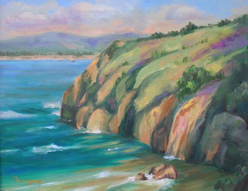 """California Coast""  Oil    16"" x 20"""