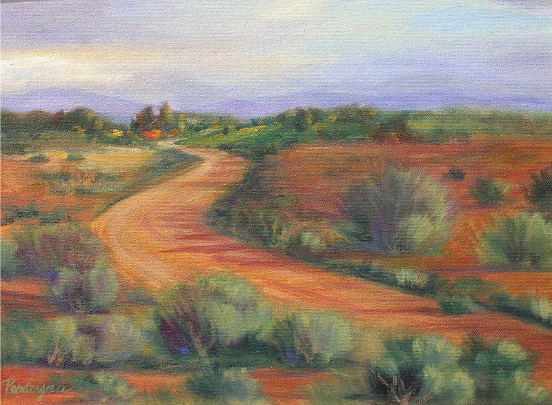 """""""Back Road to Taos""""  Oil   12"""" x 16"""""""