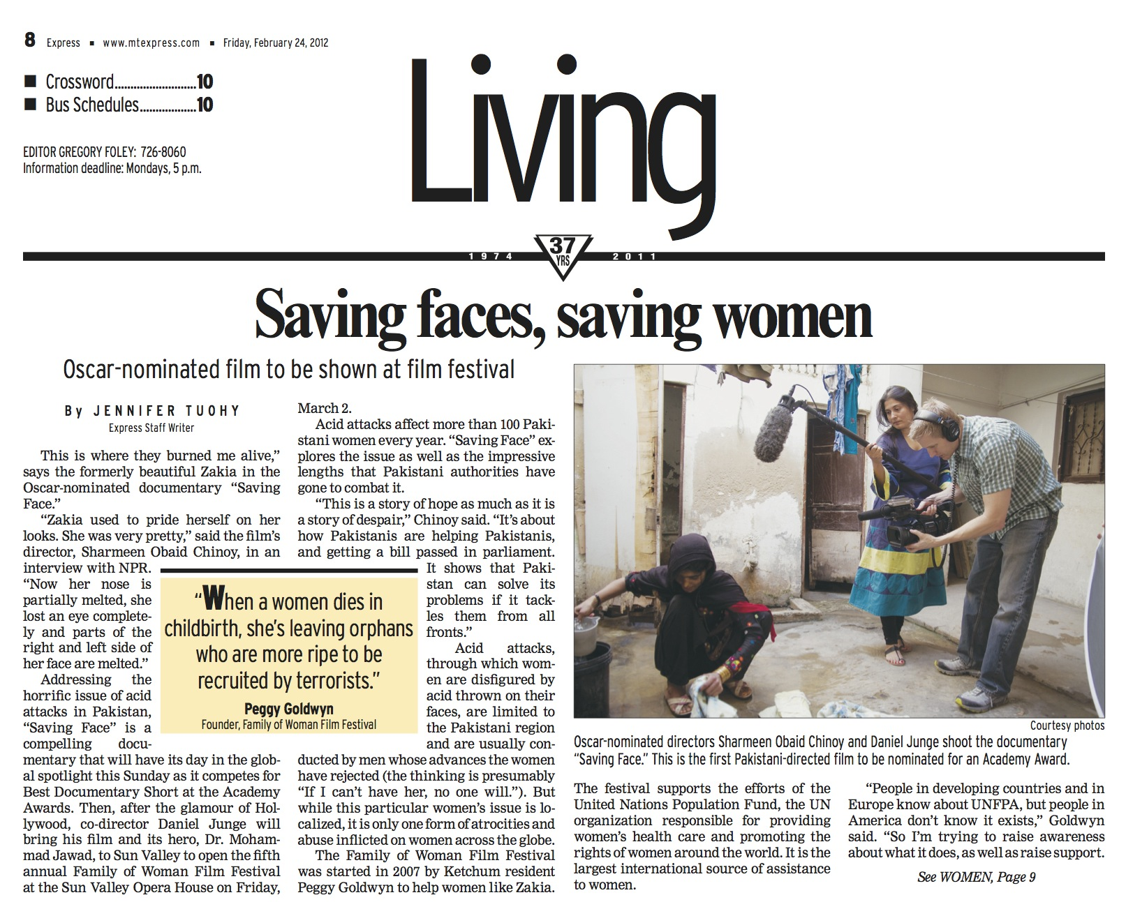 Saving Faces, Saving Women