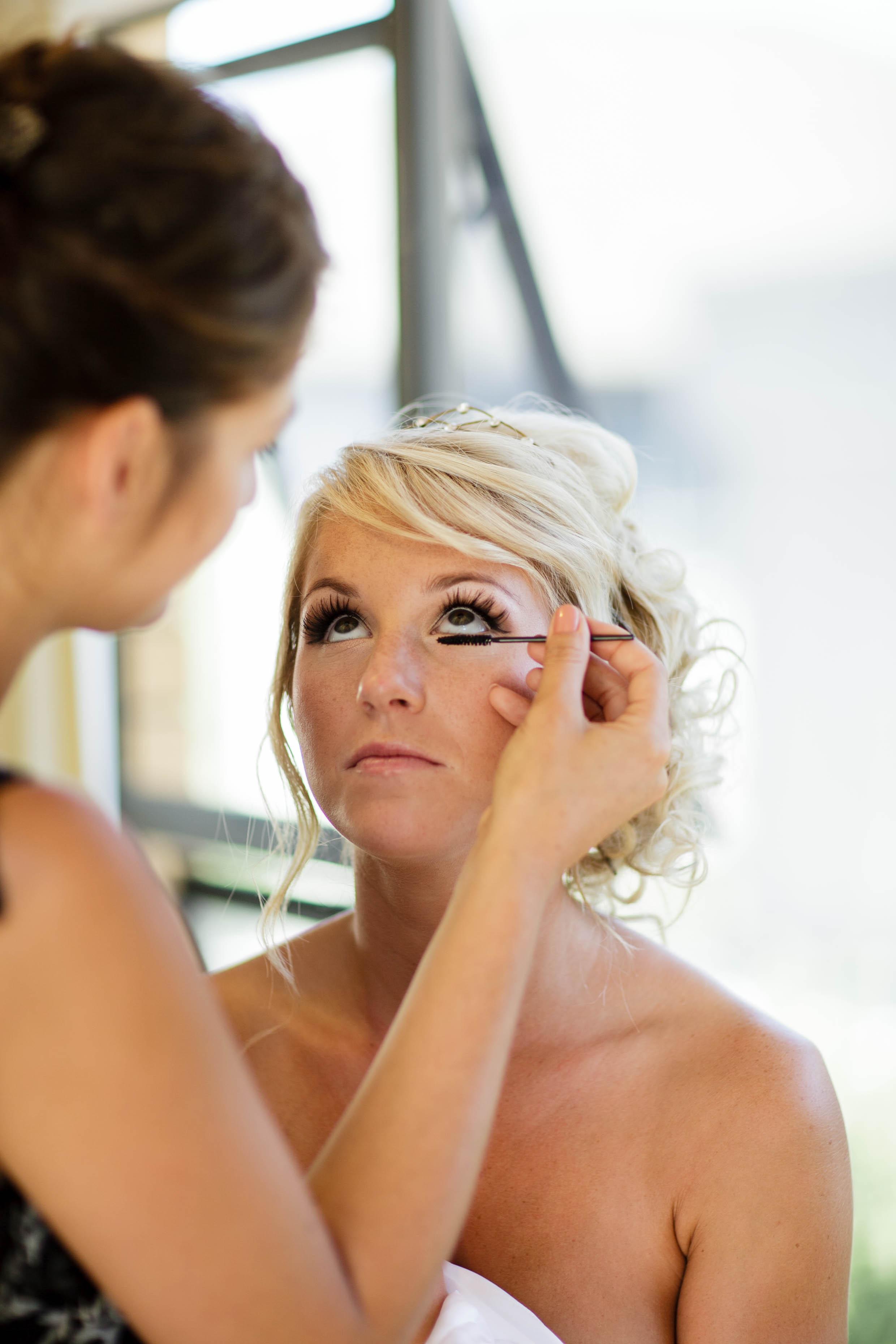 Bridal makeup in Napa
