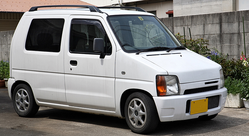 Japan's best selling kei car, the  Suzuki WagonR