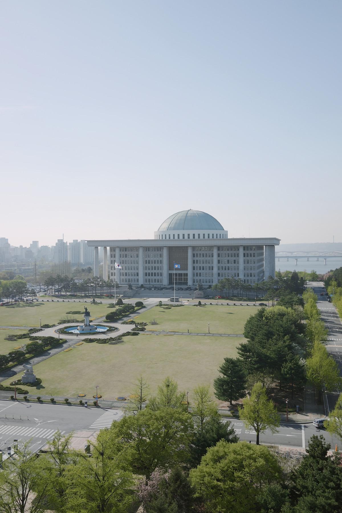 The National Assembly Building (국회의사당).