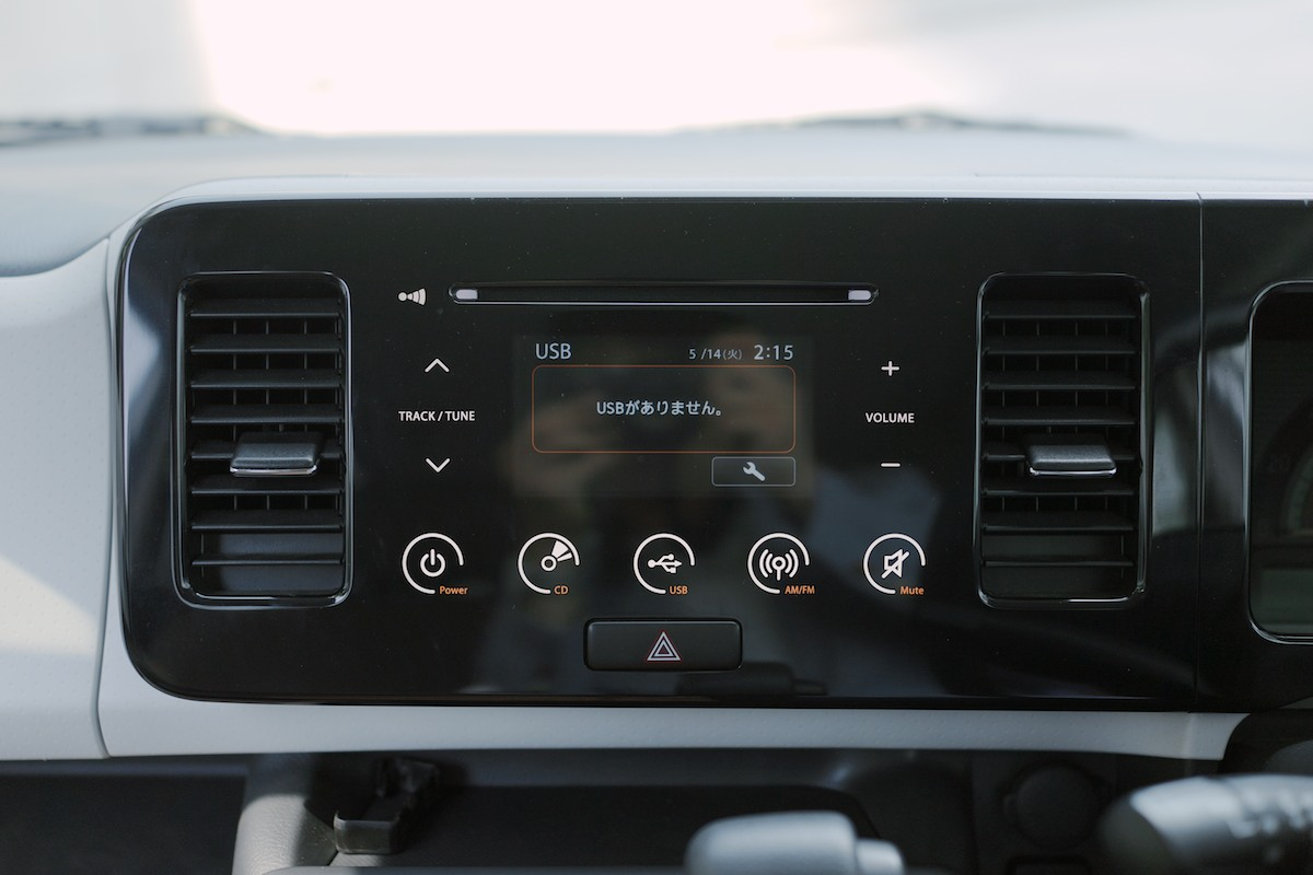 The touch buttons on the radio are actually quite usable. Thankfully, the climate controls are hard buttons.