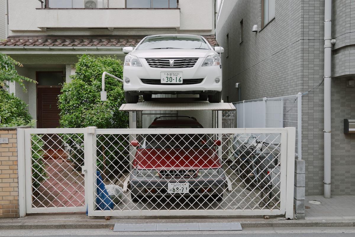The Japanese double garage. Spotted inKichijōji.