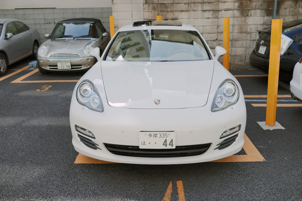 I like the simple and functional approach to Japanese license plates.