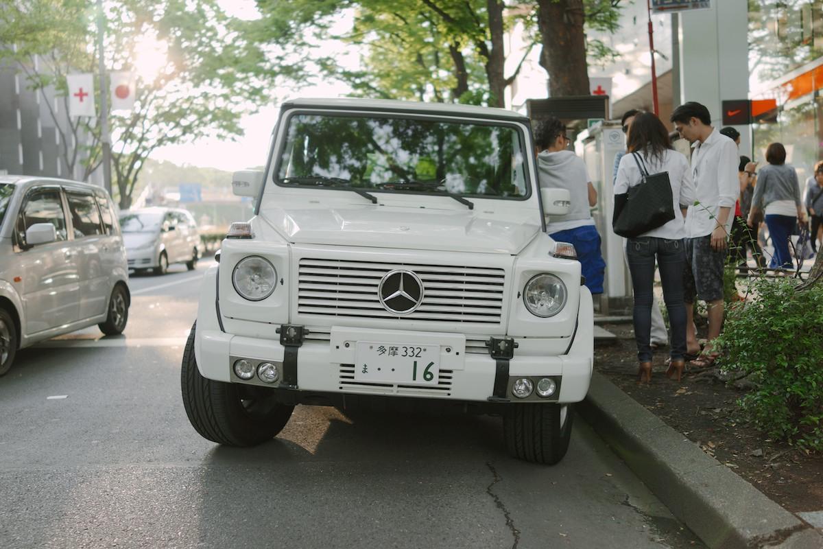 AMercedes-Benz G-Class in Harajuku.