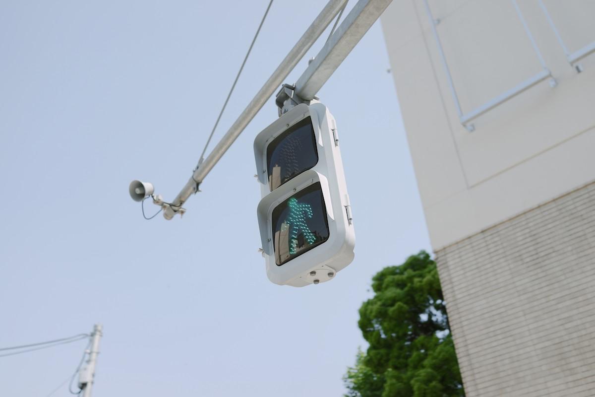 Typical Tokyo pedestrian signal.