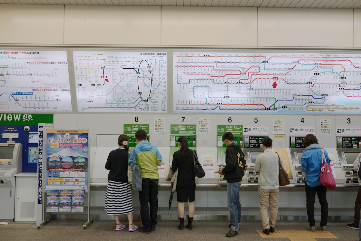 """The subways of Tokyo use RFID transit cards called """"Suica""""."""