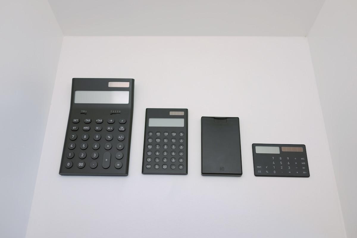 Calculators on display.