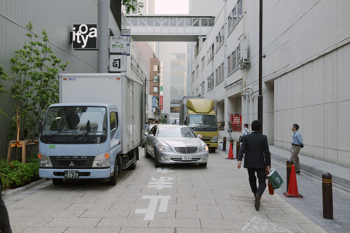 The clean streets of Ginza.