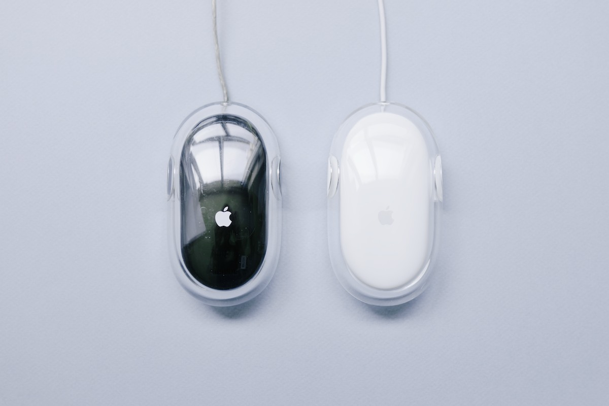 Left: Apple Pro Mouse  |  Right: Apple Mouse