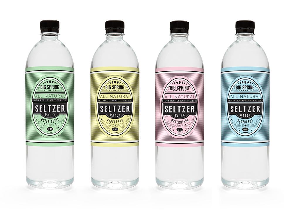 Package design for Big Spring Spirits