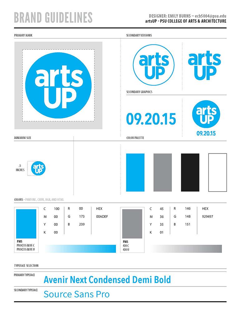 artsUP Identity Design: Brand Guidelines