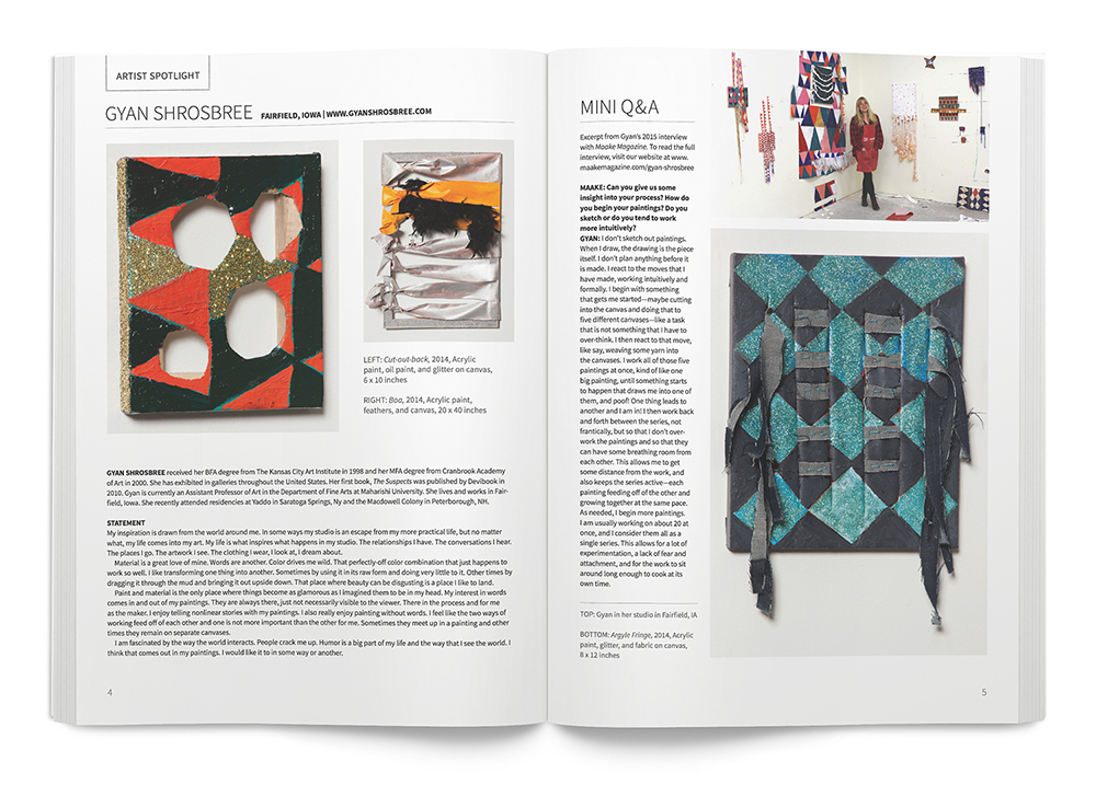Maake Magazine, interior pages