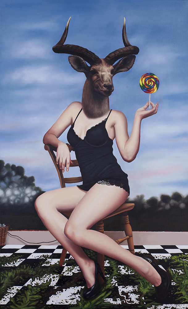 Lollipop, 2012, 22 x 26 inches, oil & acrylic on canvas