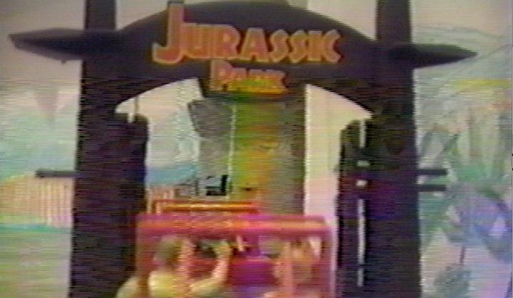 The Jurassic Park main gate.