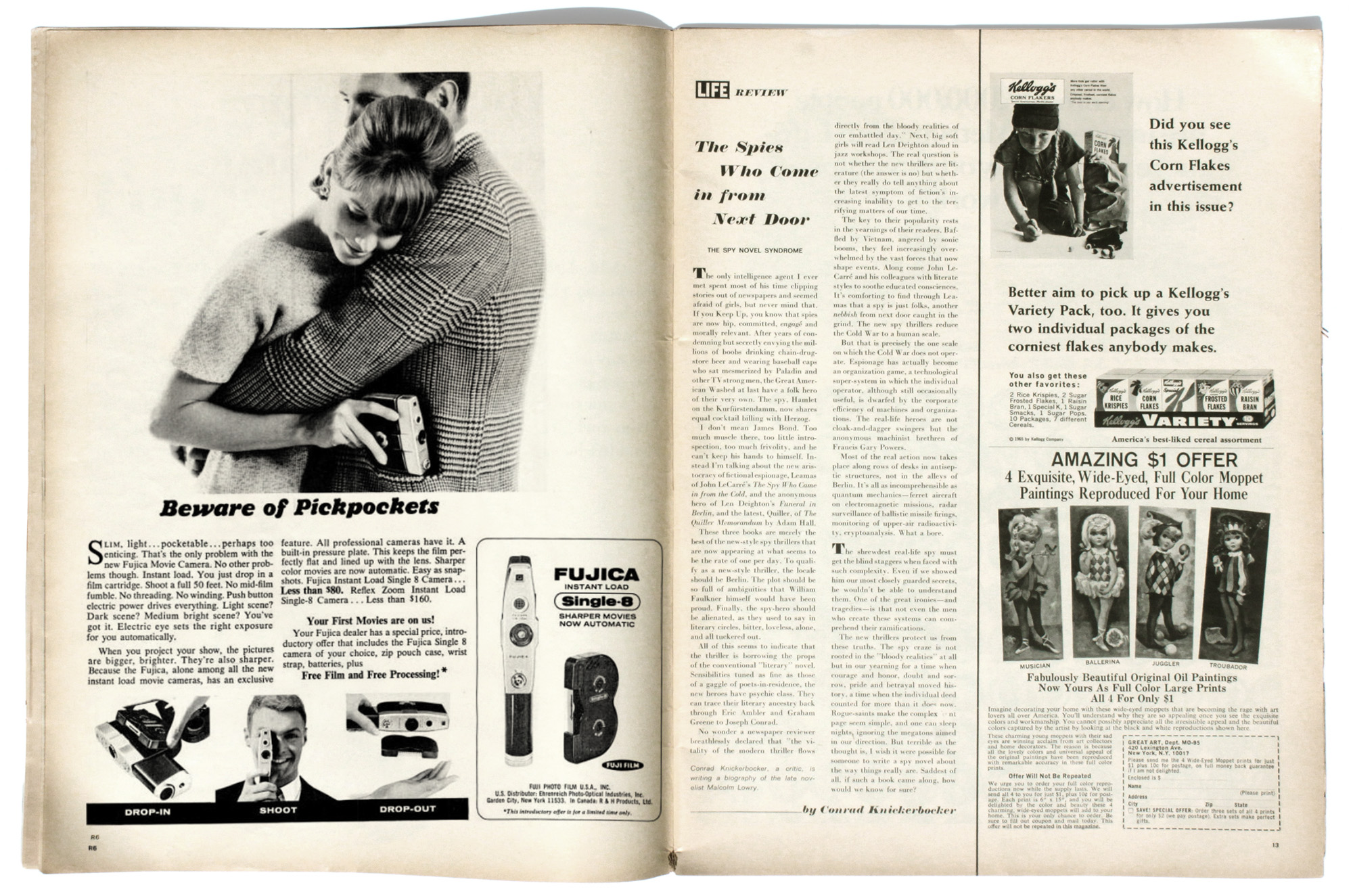 Fujica 'Single 8' May 1966 Full Page in LIFE Magazine