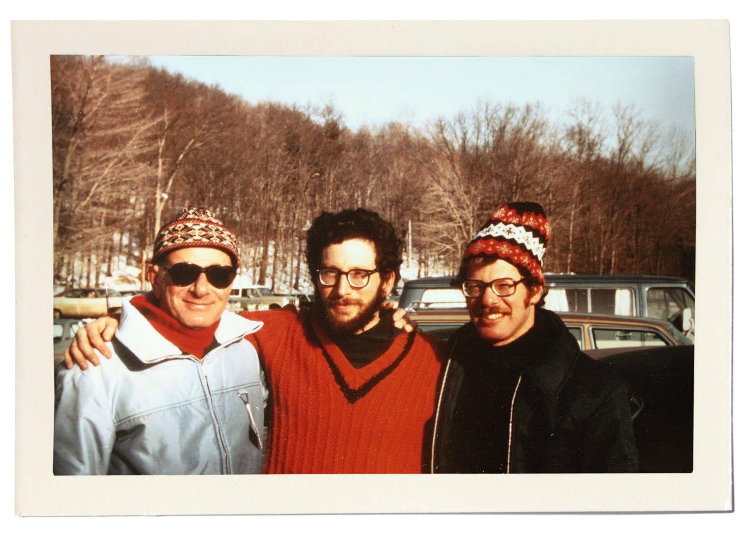 Leonard and his sons, Marc and Carl Rattner, 1975