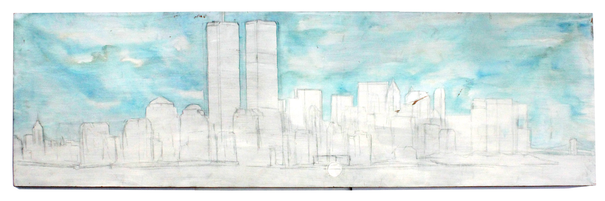 The Unfinished Painting of the World Trade Center, Medium: Door – Michael Raisch © 2002