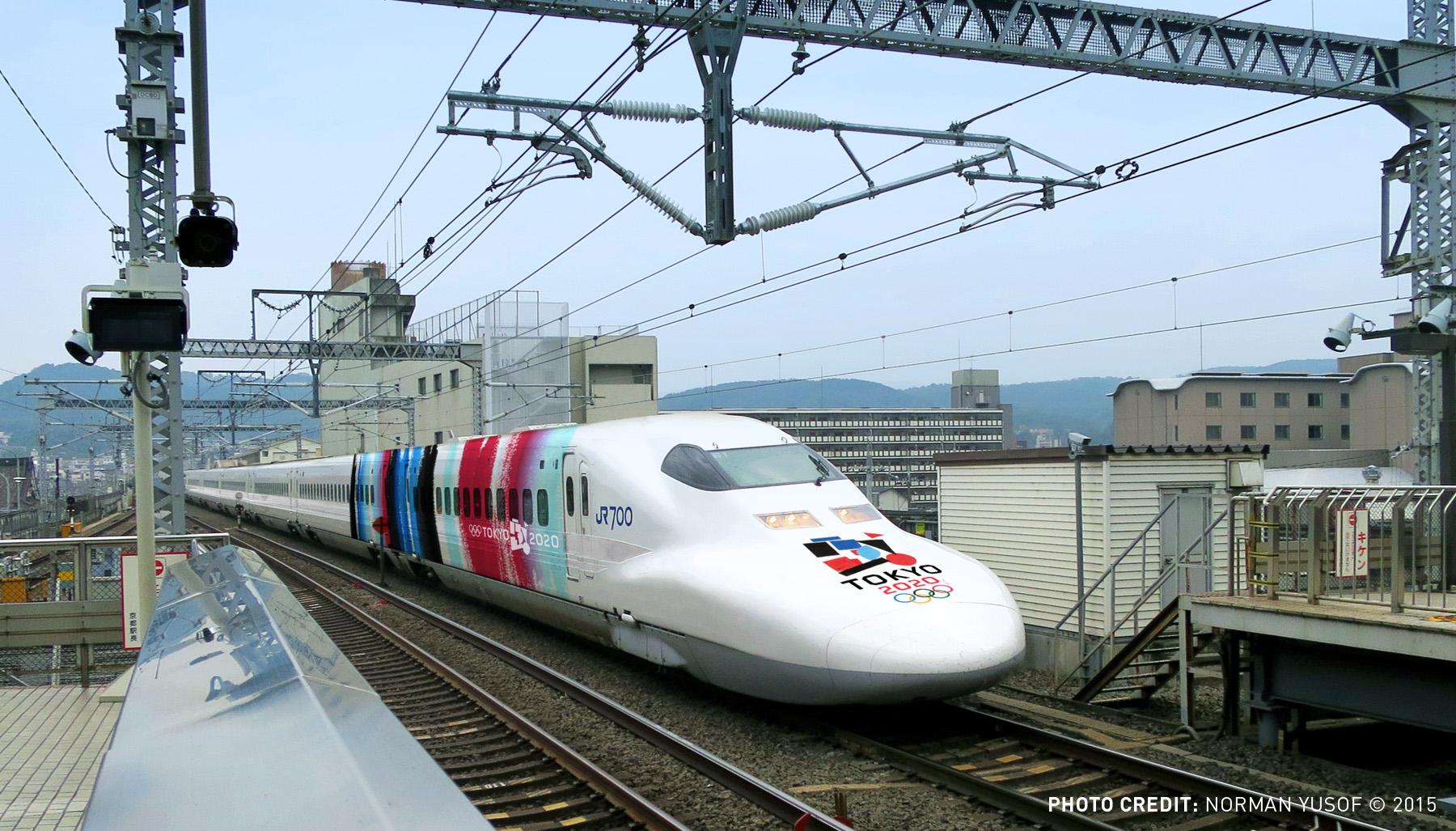Shinkansen Train at Kyoto Station