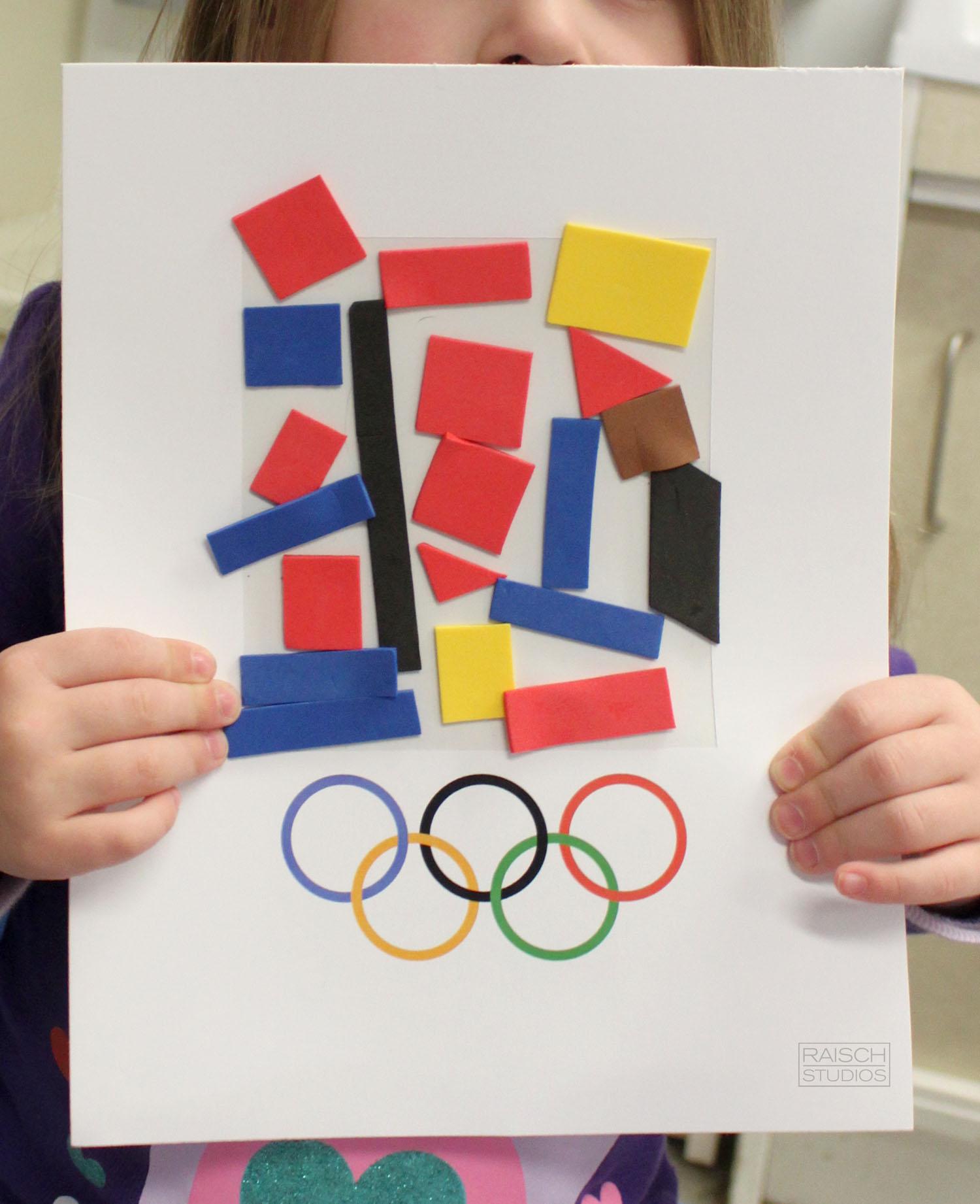 Sarah , Olympic Logo Design, Age 3