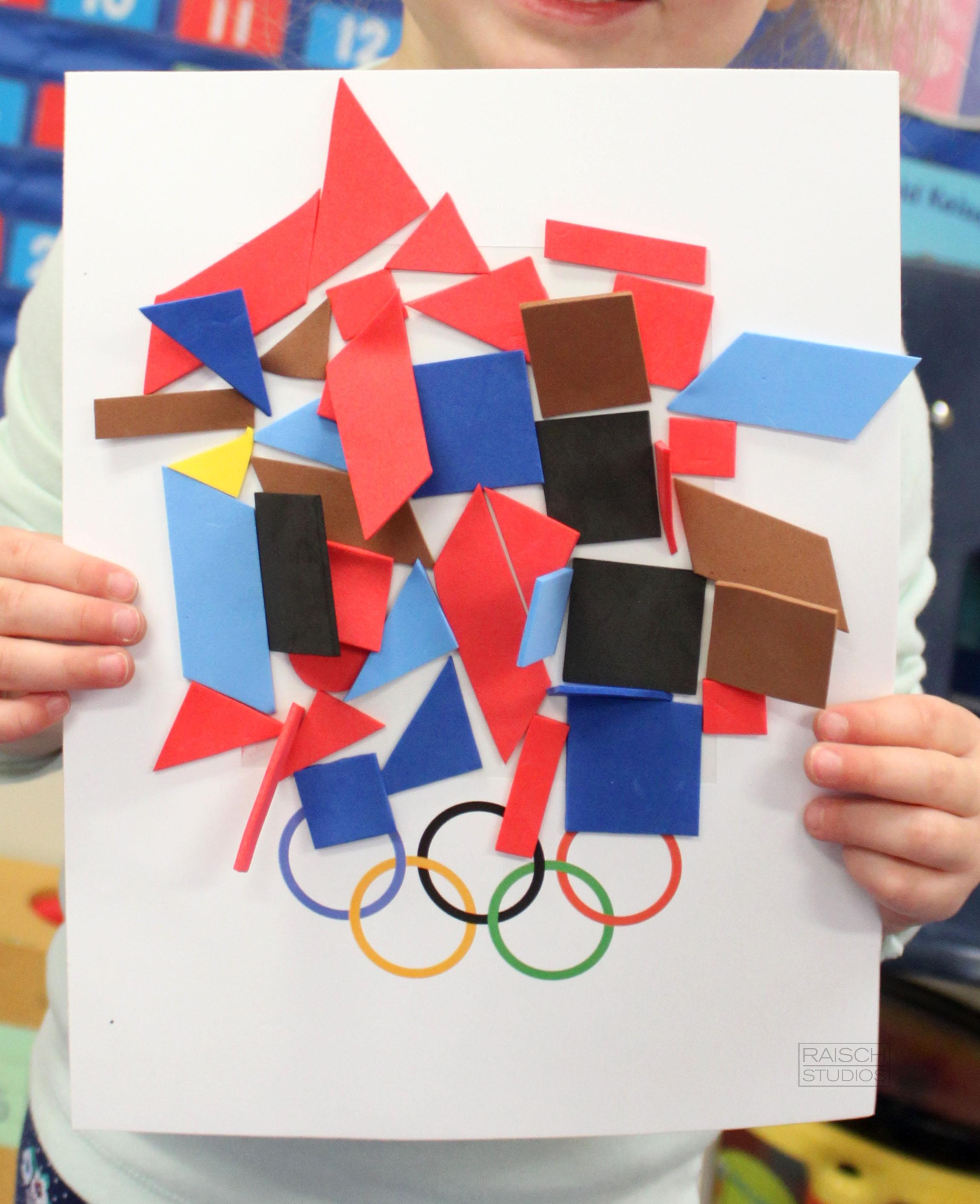 Katey , Olympic Logo, Age 3