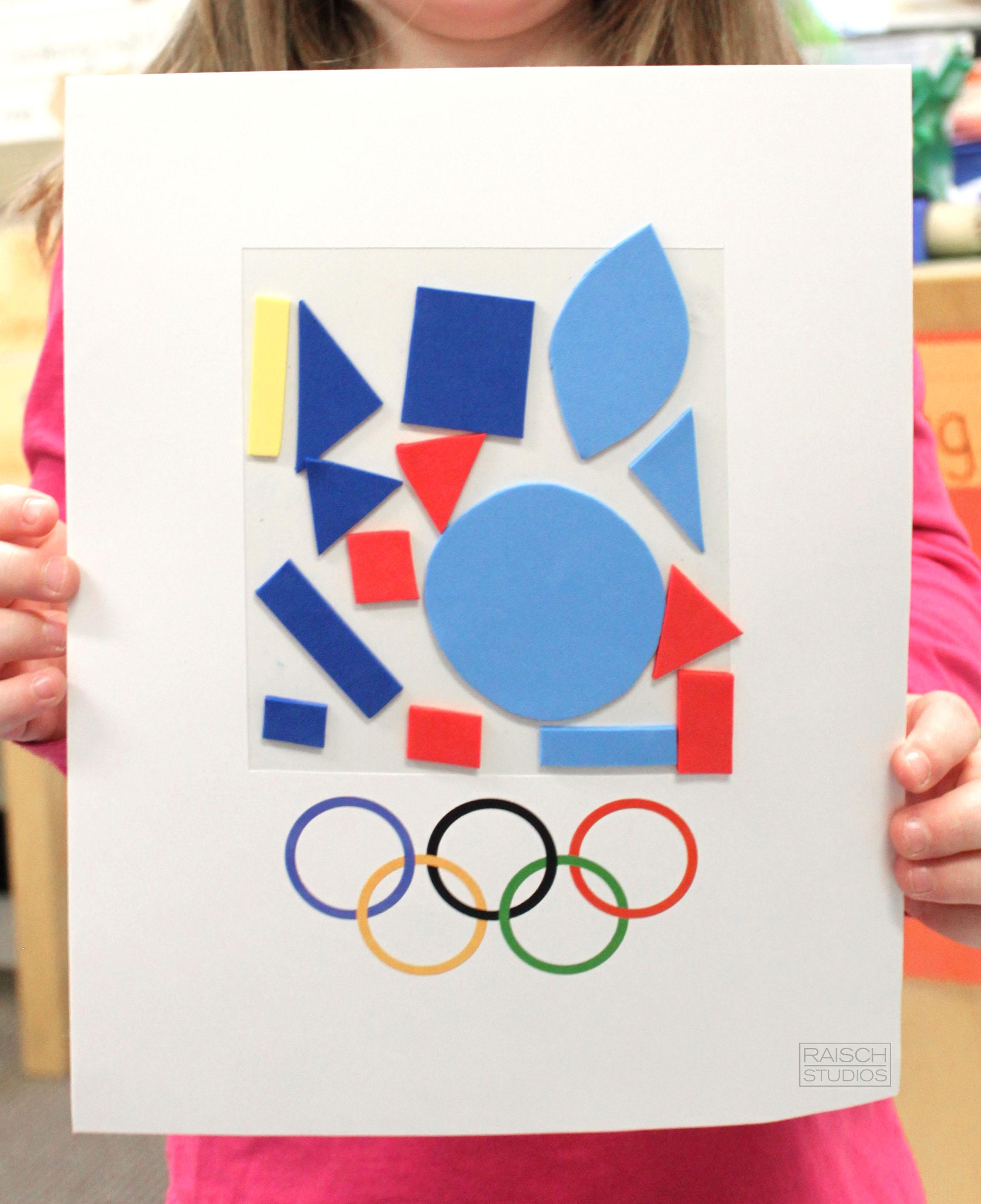 Clara , Olympic Logo, Age 4