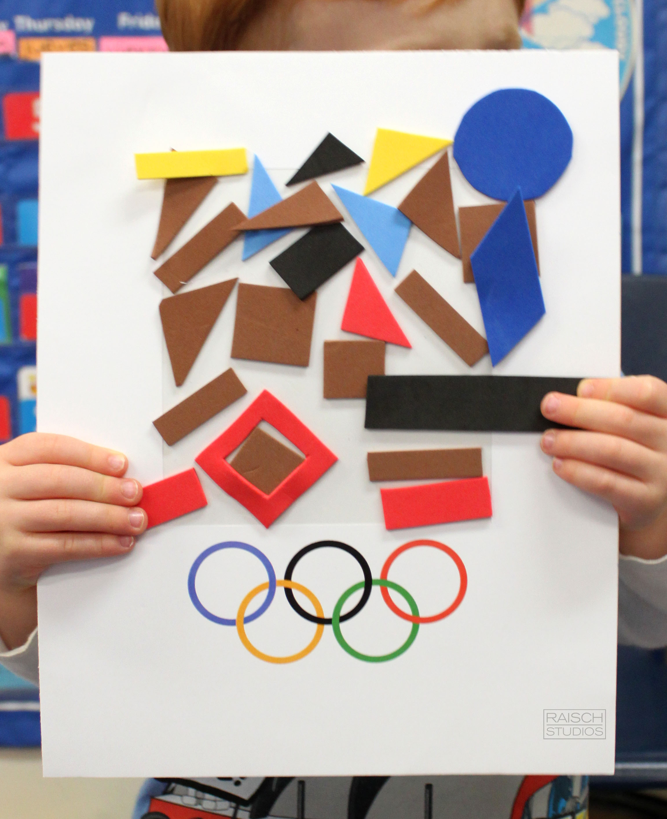 Colin , Olympic Logo, Age 3