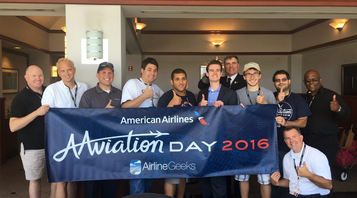 Ryan Ewing and the #AAviation Day crew