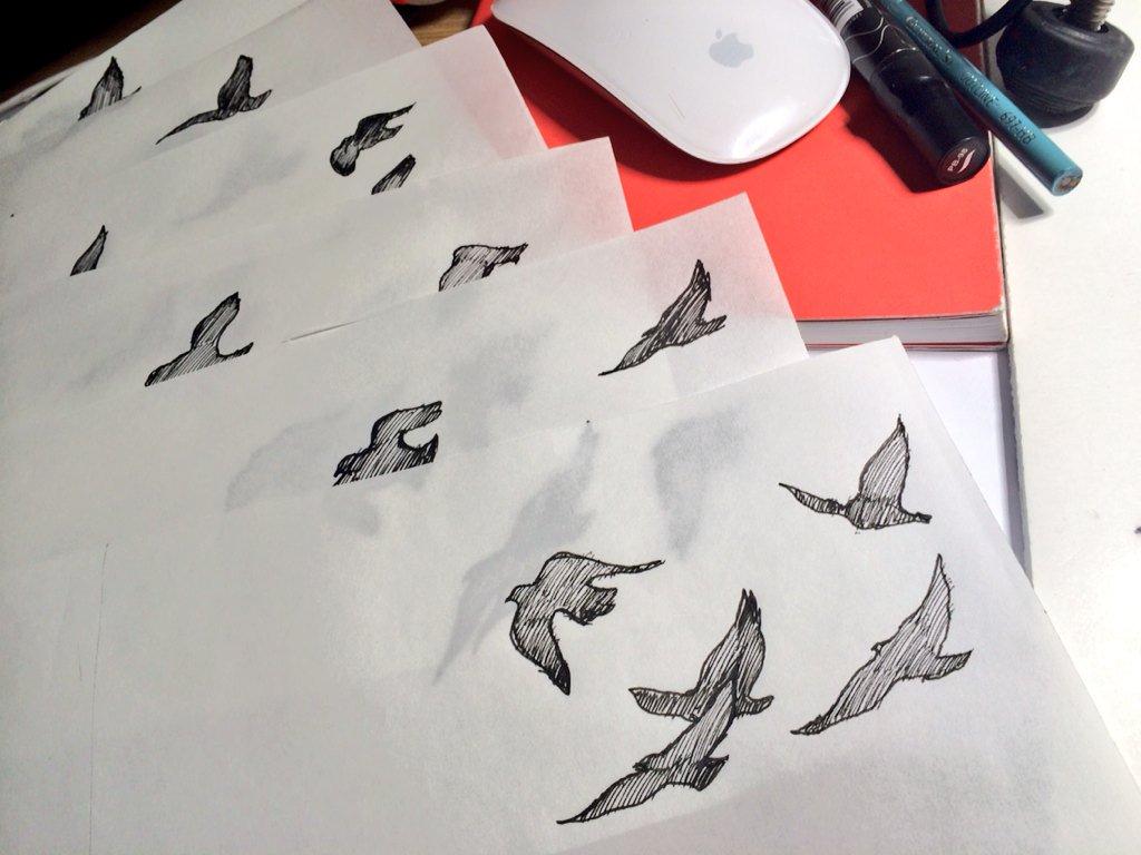 Animated Bird process sketch