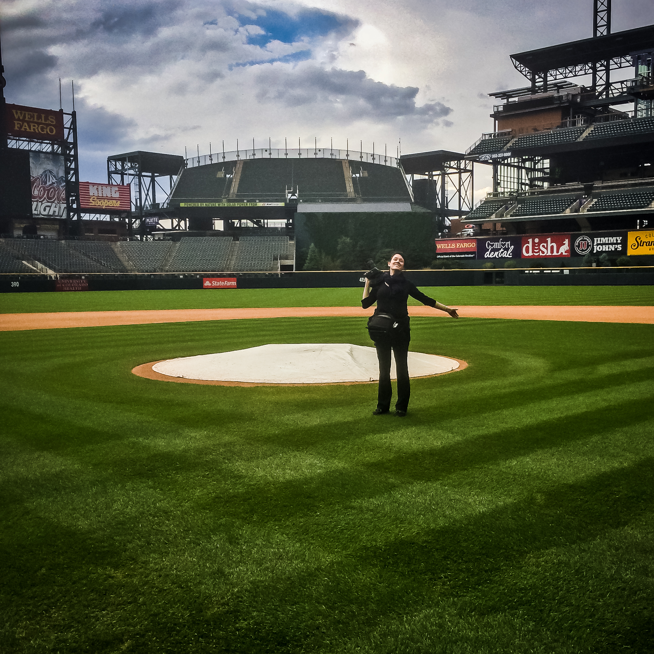 Me, while shooting a wedding at Coors Field in downtown Denver.