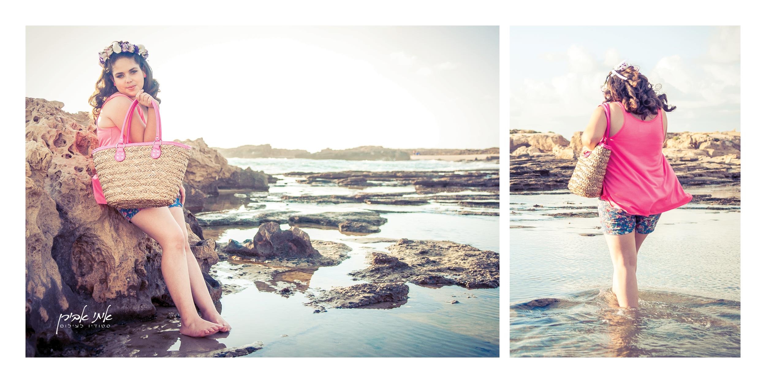 צילום בוק בת מצווה בים, צילום חוץ לבוק בת מצווה, סטודיו איתי אבירן
