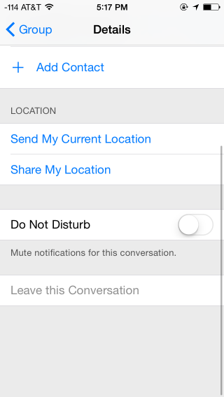 "What you'll see upon clicking ""Details"" in the top right of a group message"