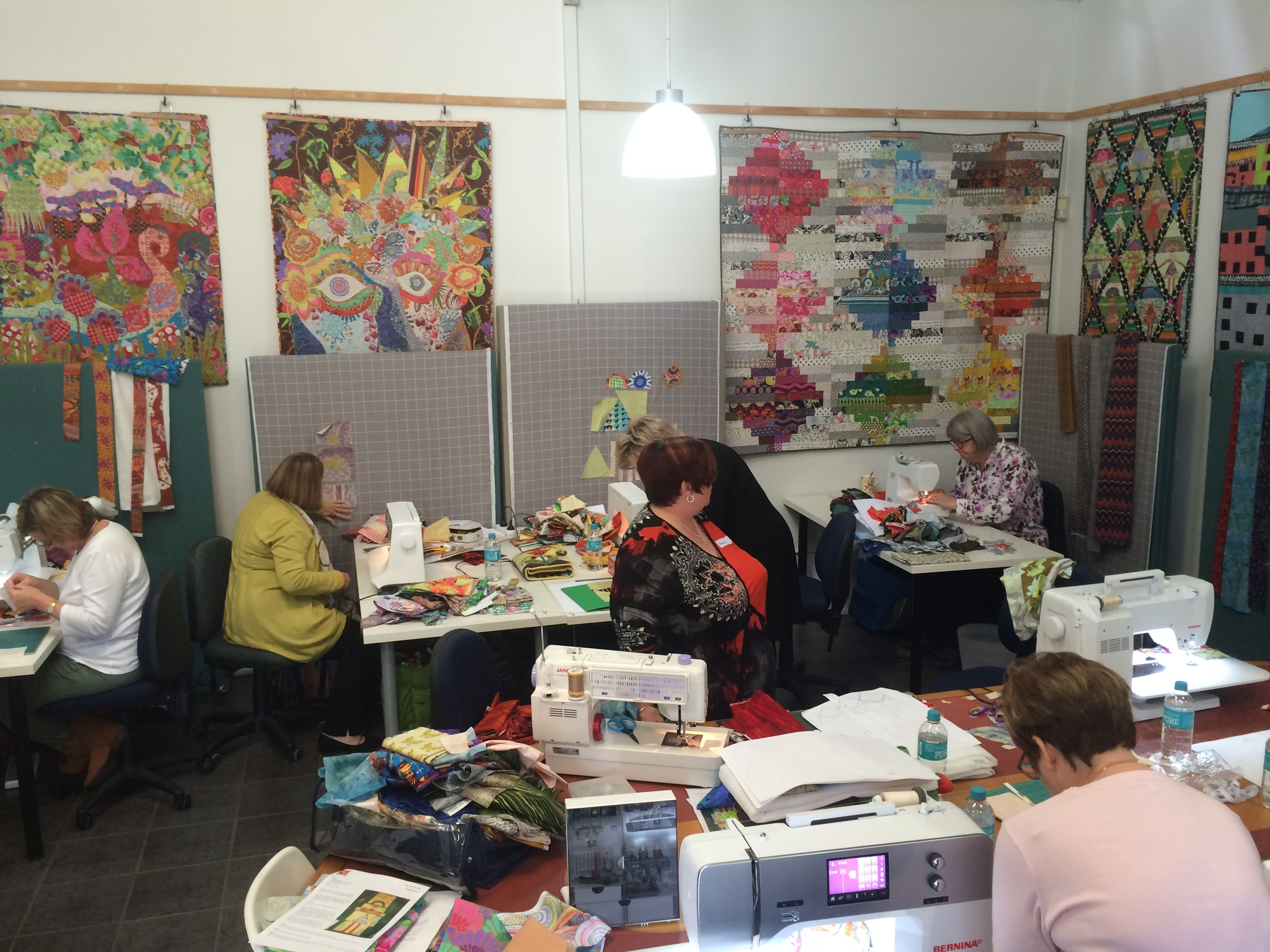 Kathy Doughty class hard at work making good use of the design walls.