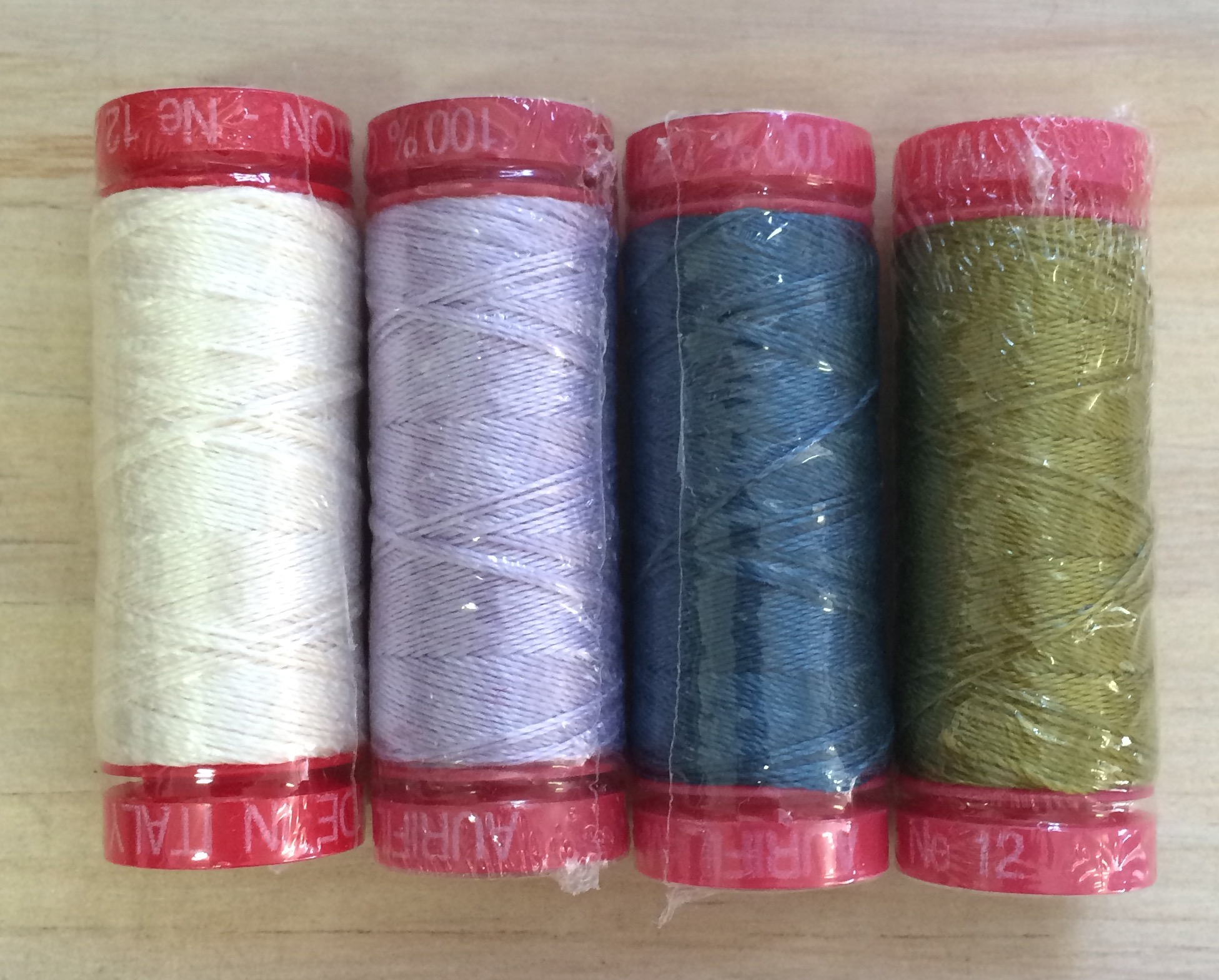 The 'cool' pack of Aurifil thread