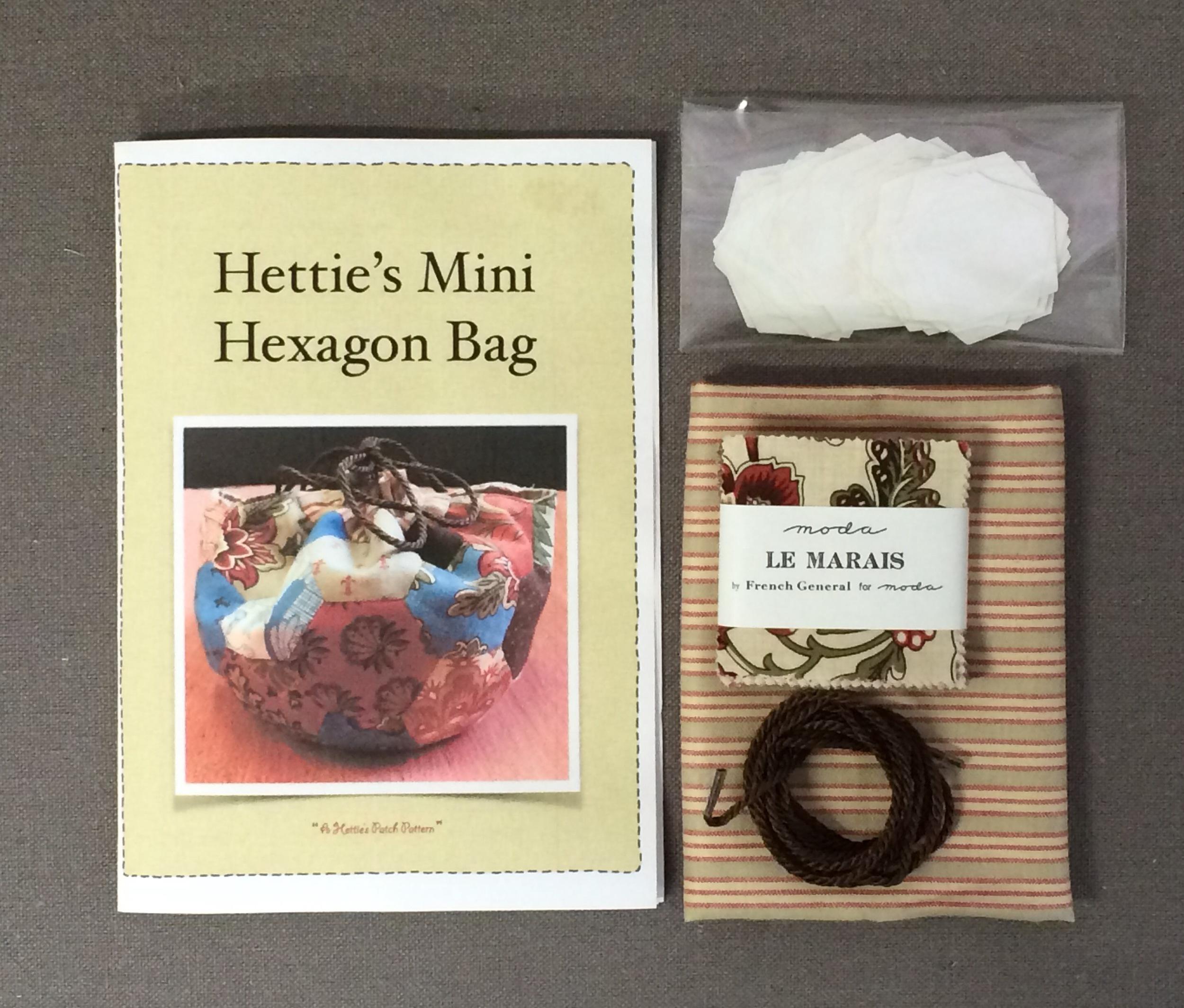 'Hettie's Mini Hexagon Bag' kit