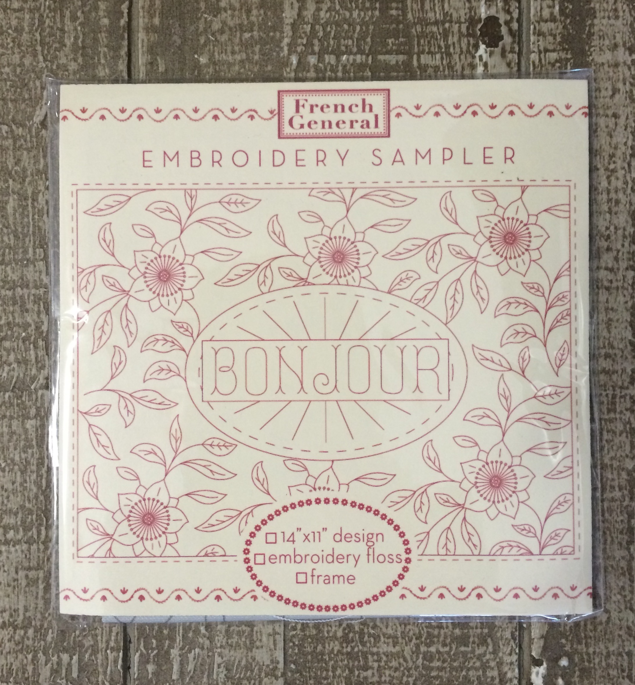 The sampler contains the printed cloth only.